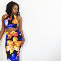 DIY Matching Floral Crop Top and Pencil Skirt and 3 Things I would do differently